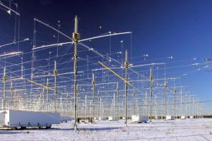 Array di antenne nell'istallazione Haarp