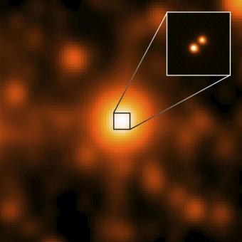 Immagine catturata da WISE delle due nane brune vicine al Sole