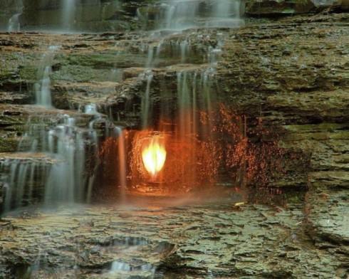 La cascata della fiamma a Buffalo