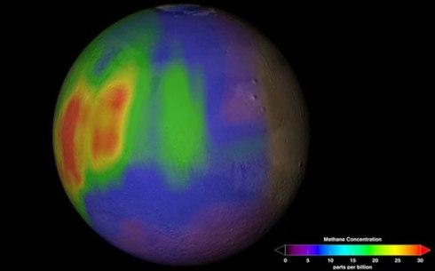 Metano nell'atmosfera di Marte. Fonte: Mars Explorer