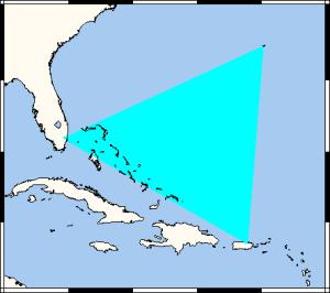 Mappa del Triangolo delle Bermuda