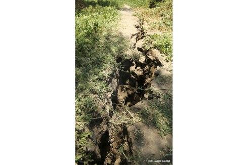 Foto della spaccatura ritrovata in Nicaragua